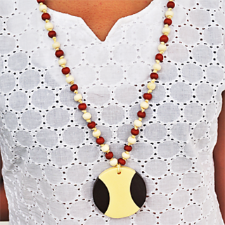 Shades Of Black & White Necklace