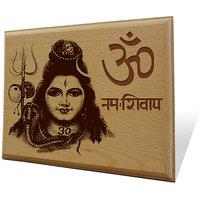 Om Namah Shivaya Wooden Engraved Plaque