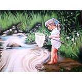 Baby On The River Side Painting
