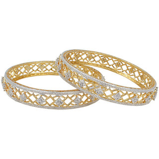 Zohar Sterling Silver Multicolor Silver Plated Bangles For Womens