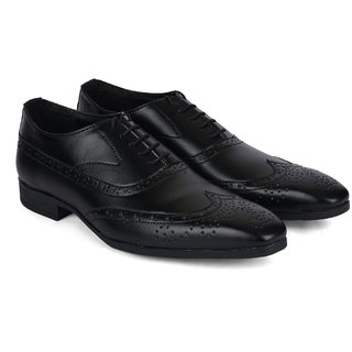 Ziraffe WARSAW Black Men's Leather Formal Shoes