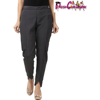 DESI CHHOKRI Dark Grey Cigarette Pants for Women