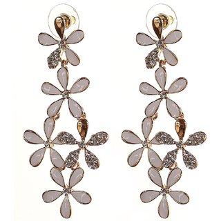Jewels Galaxy Black Shimmer Designer Earring Limited Collection For Girls/Women