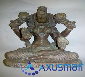 Red morble  stone Statue Laxmi hight 6.4  lenth 5.3 inch wight 1kg