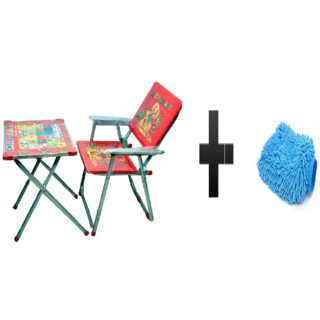 s4d Steel Art Multipurpose Metal Desk Chair and free microfiber hand glove one pc colour assorted
