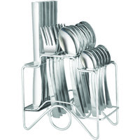 Elegante Zenith Knife Steel Look Cutlery Set - 24 Pcs With Stand - 476569