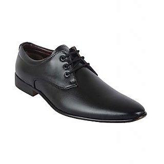 ShoeAdda Elegant Black Lace Up Shoes Q20