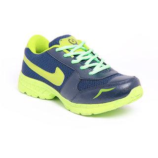 Foot 'n' Style Blue & Light Green Sport Shoes Fs451