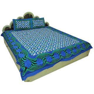 Designer Exclusive 3 Pcs. Floral Print King Size Double Bed SheetSRA2367
