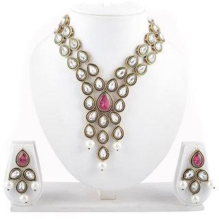 Arsya Jewellery  Rhodolite and Green Enameling Swavorski Necklace AOSN1