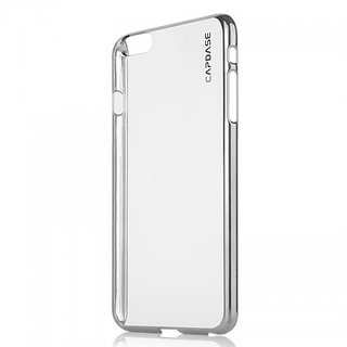 CAPDASE METEOR KARAPACE JACKET CASE POUCH WITH SCREEN GAURD IN SILVERPEARL WHITE COLOR FOR IPHONE 6