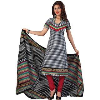 JEVI PRINTS Printed Cotton Unstitched Salwar Kameez with Cotton Printed Dupatta