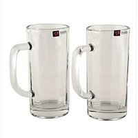BlinkMax Glassware-Blinkmax Cowboy Beer Mug - Set Of 2 -353 Ml Each