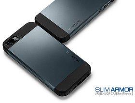 Apple iPhone 5/5S  Slim Armor Case/Cover-Luxury PU/TPU Matte Finish