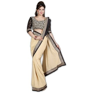 Myfzone Multicolor Raw Silk Self Design Saree With Blouse