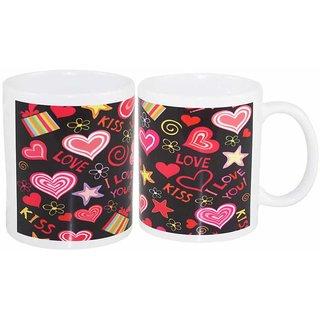 Coffee Mug Love Kiss Two Set