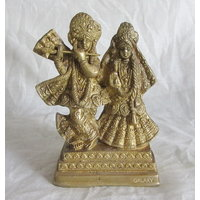 Radhe Krishna Brass Statue,Religious God Idol For Pooja,Puja Mandir Statue