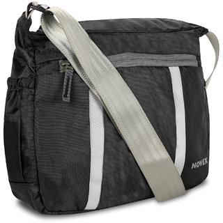 Buy Novex Evoq Black Sling Bag Online - Get 50% Off 1924f30342b68