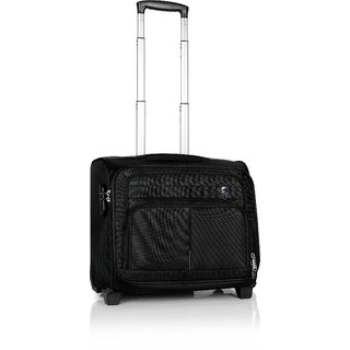 Novex Black Polyester 2 Wheels Small (Below 60 Cms) Trolley Bag