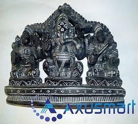 Kadapa stone Statue Ganesha with Laxmi hight 6.6inch lenth 8.5 inch  wight 2kg