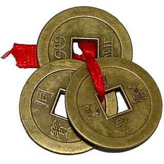 J F Feng Shui 3 Wealth Coins