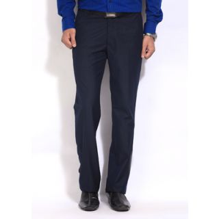 Inspire Blue Slim Fit Formal Trouser