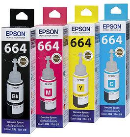 Epson Original Ink All Colors 70 Ml Each For L110/L210/L350/L355/L455/0/L555