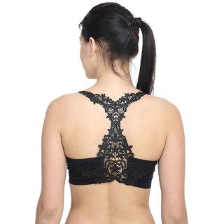 776b5aae18dd0 Buy PrettyCat GlamFash Black Bralette bra Online - Get 62% Off