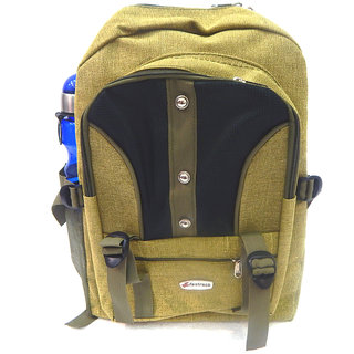 Stylish  Multi Pockets Canvas 30 Ltrs Denim Backpack