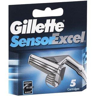 Gillette Sensor Excel Men's Razor Blade Refills, 5 count