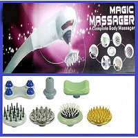 Free Shipping Magic Massager With 7 Attachments For Back Face Head Legs Hand Foot Massager