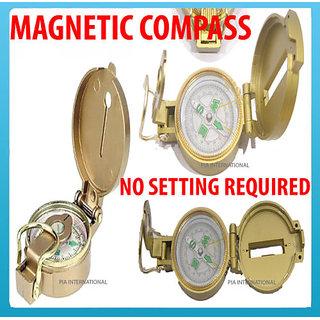 Lensatic Magnetic Compass BRASS BODY