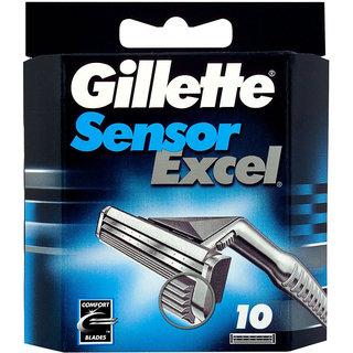 Gillette Sensor Excel Men's Razor Blade Refills - 10 cartridges