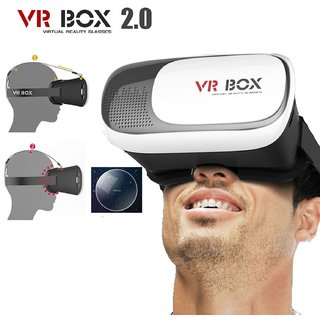 Tech Gear Universal VR Box Virtual Reality 3D Glasses Cardboard Movie Game for IOS iphone
