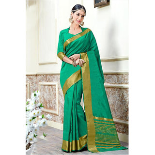 c52623d35642f5 Buy Indian Beauty Green Art Silk Badge Saree With Blouse Online - Get 38%  Off