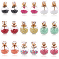 Jewels Galaxy Best-Selling Multi-Colour Earrings Combo Of 9 Two Sided Glass Earrings For Girls And Women