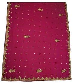 Zone Multicolor Art Silk Checks Saree With Blouse