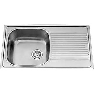 SINK CARYSIL STAINLESS STEEL VOGUE 36X20X9 WITH DRAINER MATT FINISH