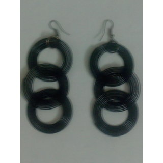Black drop earings