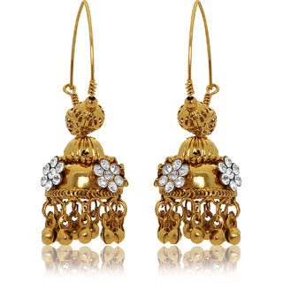 FashionDeals4u Gold Tone Studded Jhumka SC000038
