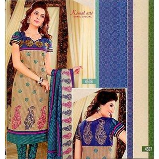 Komal Arts Printed Cotton Dress Material 4506 Un Stiched (Unstitched)