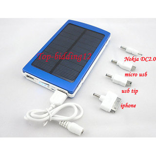 Solar Mobile Phone Charger Universal with inbuilt 10000mAh Rechargeable Battery