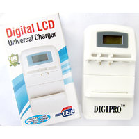 Digital LCD Universal Charger Travel, Wall & USB Charger