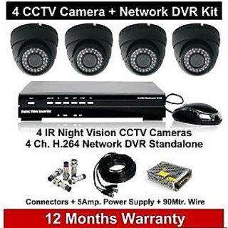 Set of 4 CCTV Cameras And 4 Ch. DVR