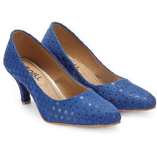 Nell Girls Blue Slip on Heels ]ML2016-16-Blue