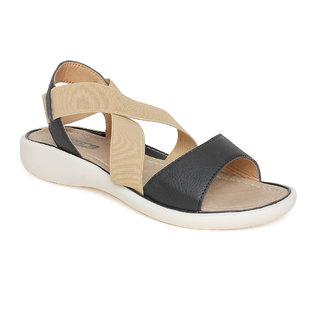 Vendoz Girls Black Sandals ]VDFL22BL
