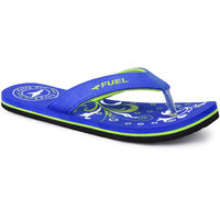 Fuel Girls Girls Flip Flop Blue Wht Hawai Slippers