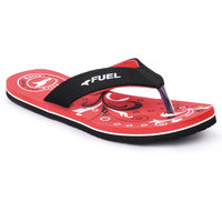 Fuel Girls's Red and Black Flip Flop