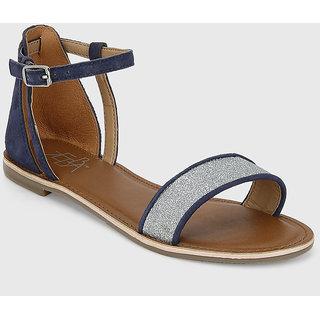 Zebba GirlsS Blue Flats (100Z179A90) ]100Z179A90
