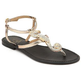 Zebba GirlsS Gold Flats (100Z16311) ]100Z16311